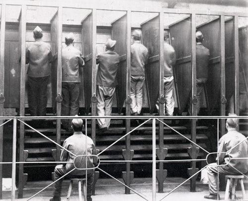 The treadmill at Pentonville Prison