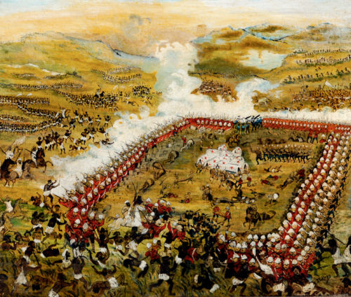"""""""The Battle of Abu Klea"""" as imagined by artist J. Le Page"""