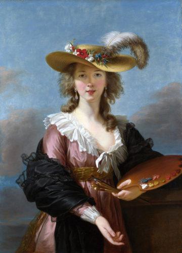 """Self Portrait in a Straw Hat"" by Elisabeth Vigée LeBrun, 1782"