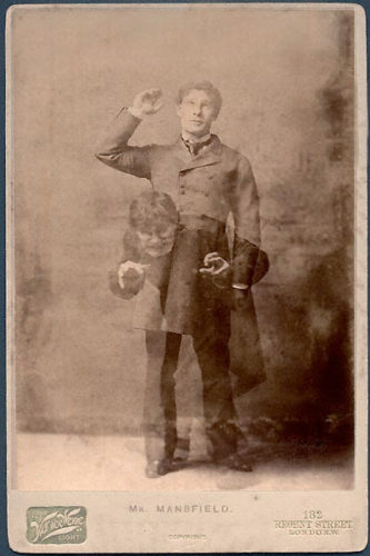 Actor Richard Mansfield starring as Dr.Jekyll/Mr.Hyde in the London smash hit, 1887