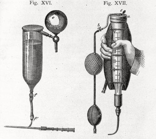 A late 19th century transfusion device, Wellcome Library