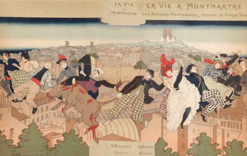 A sanitized view of Montmartre by illustrator Pierre Vidal