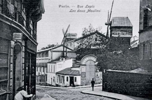 Rue Lepic, Montmartre, from an old postcard