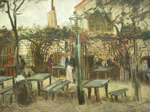 """""""Le Guinguette"""" by Van Gogh, 1886, thought to be the Franc Buveur"""
