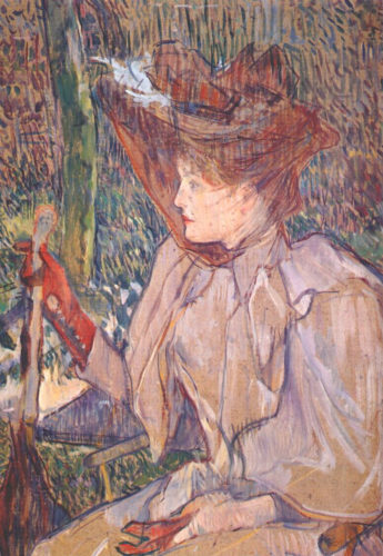 """""""Woman with Gloves"""" by Toulouse-Lautrec, 1891"""