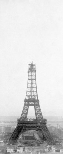 Photo by Théophile Féau of the Eiffel Tower, December 26, 1888