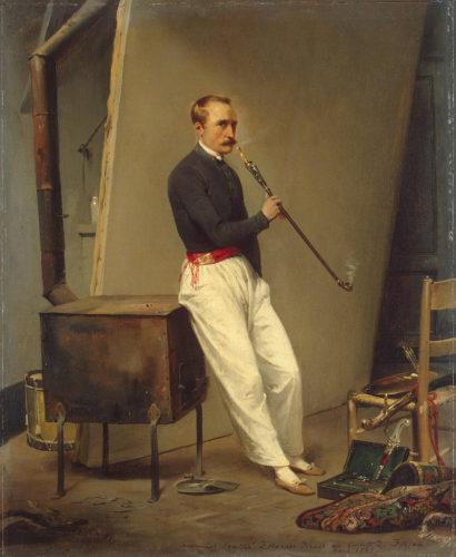 Holmes' great uncle Horace Vernet, self-portrait 1835