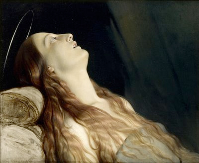 Louise, 31, on her deathbed, painted by her husband Paul Delaroche c. 1845