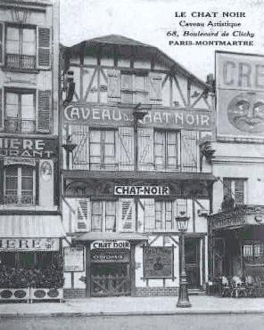The Chat Noir, third location on the Boulevard de Clichy