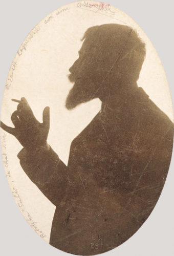 Silhouette of host Rodolphe Salis by Charles Gerschel, 1895