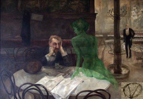 """""""The Green Fairy"""" by Polish expat Viktor Oliva"""