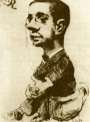 Lautrec, satirical self portrait