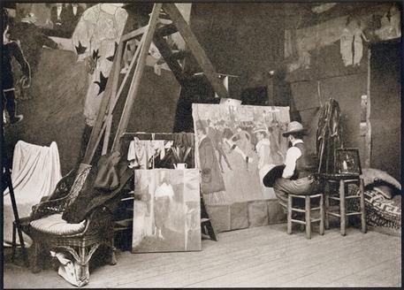 Lautrec painting in the Caulaincourt studio/apartment